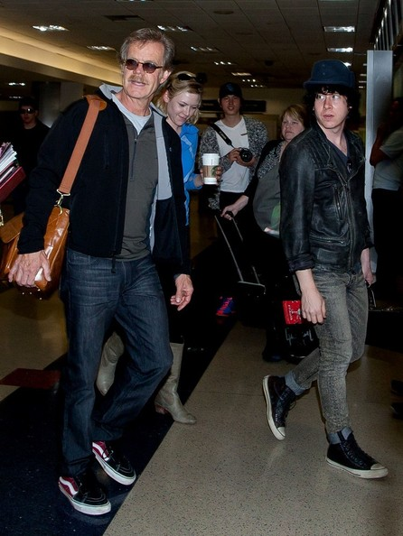 William H. Macy chose a pair of straight-leg jeans for his look while arriving into LAX.