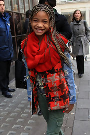 Willow Smith styled her locks into long micro braids while visiting BBC Radio 1 studios in London.