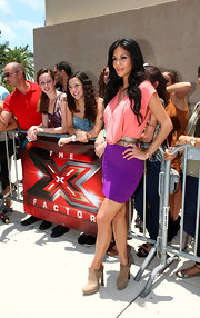 Nicole attended the 'X Factor' auditions wearing a variety of rosé bangles.