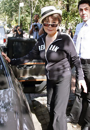 Yoko Ono dressed up in a casual zip-up hoodie as she had lunch in Da Silvano.