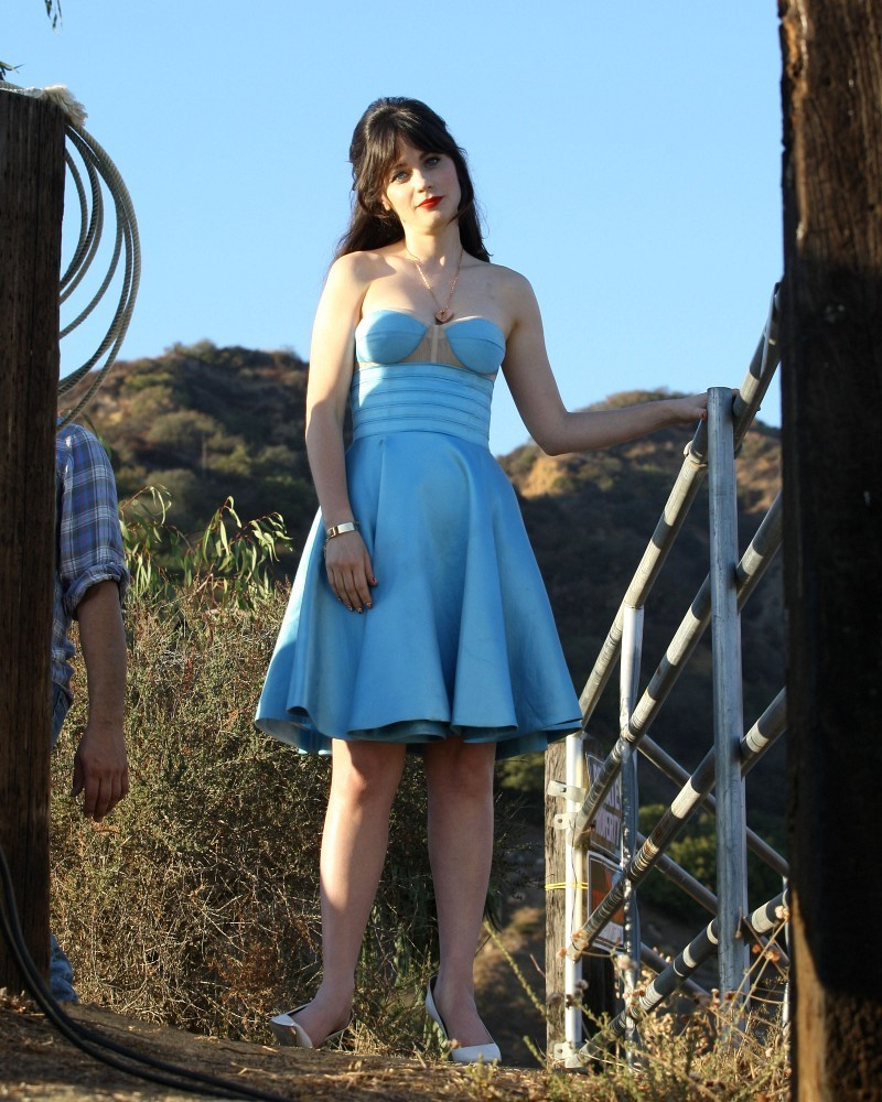 Zooey Deschanel Corset Dress Corset Dress Lookbook