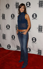 Jessica paired her sheer top with a classic pair of flared jeans at the VH1 Big in 2002 Awards.