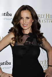 Actress Andie MacDowell showed off her luxurious curls while at the Film Festival in Beverly Hills.
