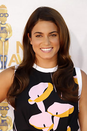 Nikki Reed showed off her long curls while walking the red carpet at the MTV Movie Awards.