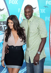 Lamar Odom wore a mint-green plaid button-down and topped it off with a tie when he attended the 2010 Teen Choice Awards.