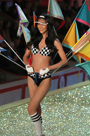 Supermodel Liu Wen sported a clear see-through sun visor during the Victoria's Secret runway show in the Fall of 2010.