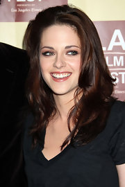 Kristen Stewart added a touch of sheer pearlescent gloss while attending the 2011 Los Angeles Film Festival.
