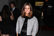 Olivia Palermo Wears a Retro Cropped Evening Coat