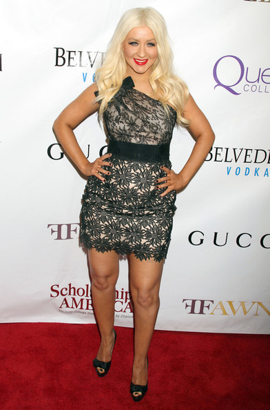More Pics of Christina Aguilera Long Curls (5 of 7) - Christina Aguilera Lookbook - StyleBistro