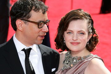 Elisabeth Moss Fred Armisen The 61st Annual Primetime Emmy Awards - Arrivals