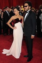 Zoe Kravitz, daughter of rocker Lenny Kravitz, added some bling to her up-do with a  19th century diamond wing brooch.
