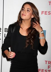 Nikki reed showed off her arm candy while hitting the Tribeca Film Festival. Her gold watch was something to gawk over.