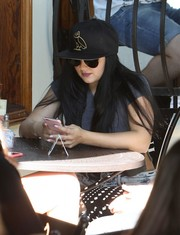 Ariel Winter was spotted out in Los Angeles wearing an OVO x New Era owl baseball cap.