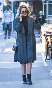 Dianna Agron strolls through NYC in an oversized wool coat