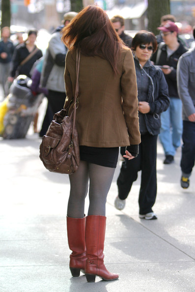 More Pics of Aimee Teegarden Mid-Calf Boots (1 of 22) - Aimee Teegarden Lookbook - StyleBistro