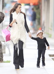Alessandra loves her thick warm vests like this one.