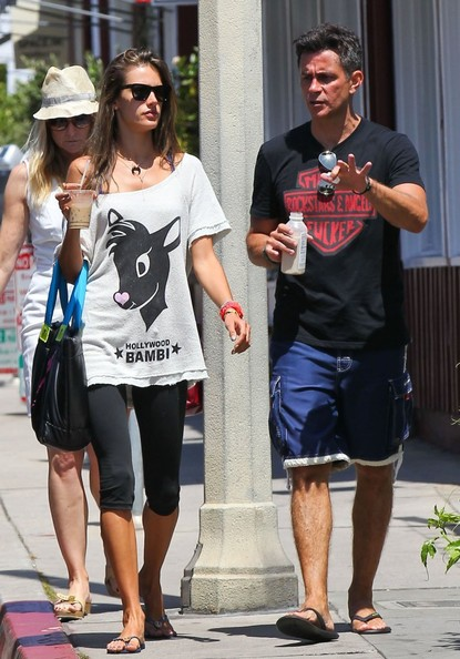 Alessandra Ambrosio Off-the-Shoulder Top