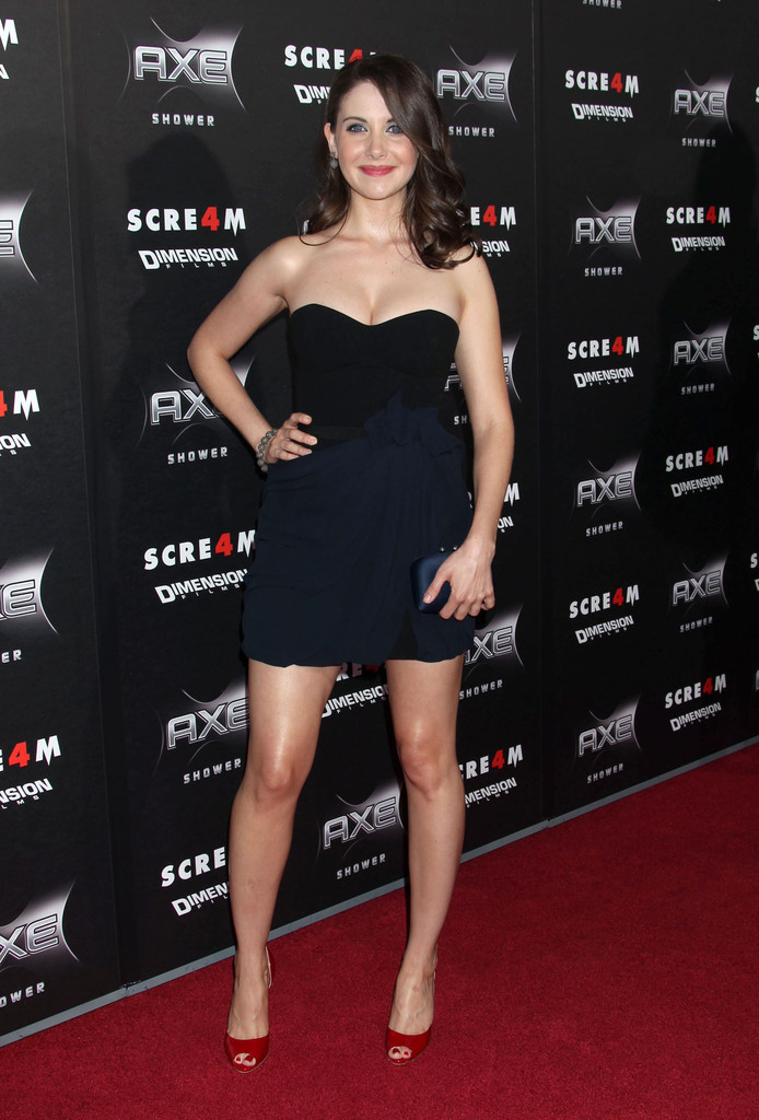 Alison Brie Strapless Dress Strapless Dress Lookbook