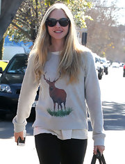 Amanda dons a sweatshirt with a bold moose print while out in West Hollywood.