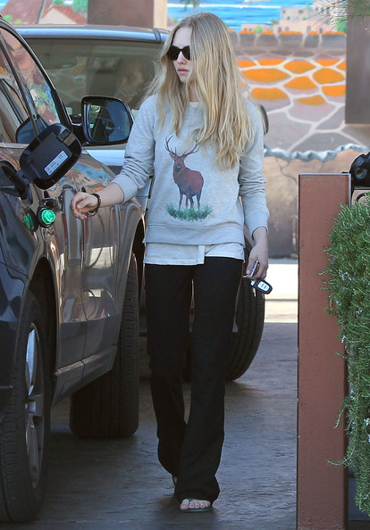 More Pics of Amanda Seyfried Leather Tote (1 of 20) - Amanda Seyfried Lookbook - StyleBistro