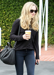 Amanda Seyfried wore her hair long and wavy for a shopping trip in West Hollywood.