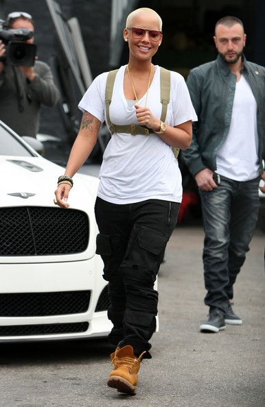 More Pics of Amber Rose Lace Up Boots (1 of 16) - Amber Rose Lookbook - StyleBistro