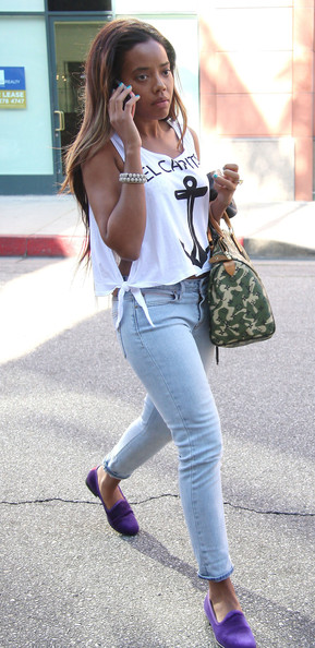 More Pics of Angela Simmons Skinny Jeans (1 of 5) - Angela Simmons Lookbook - StyleBistro