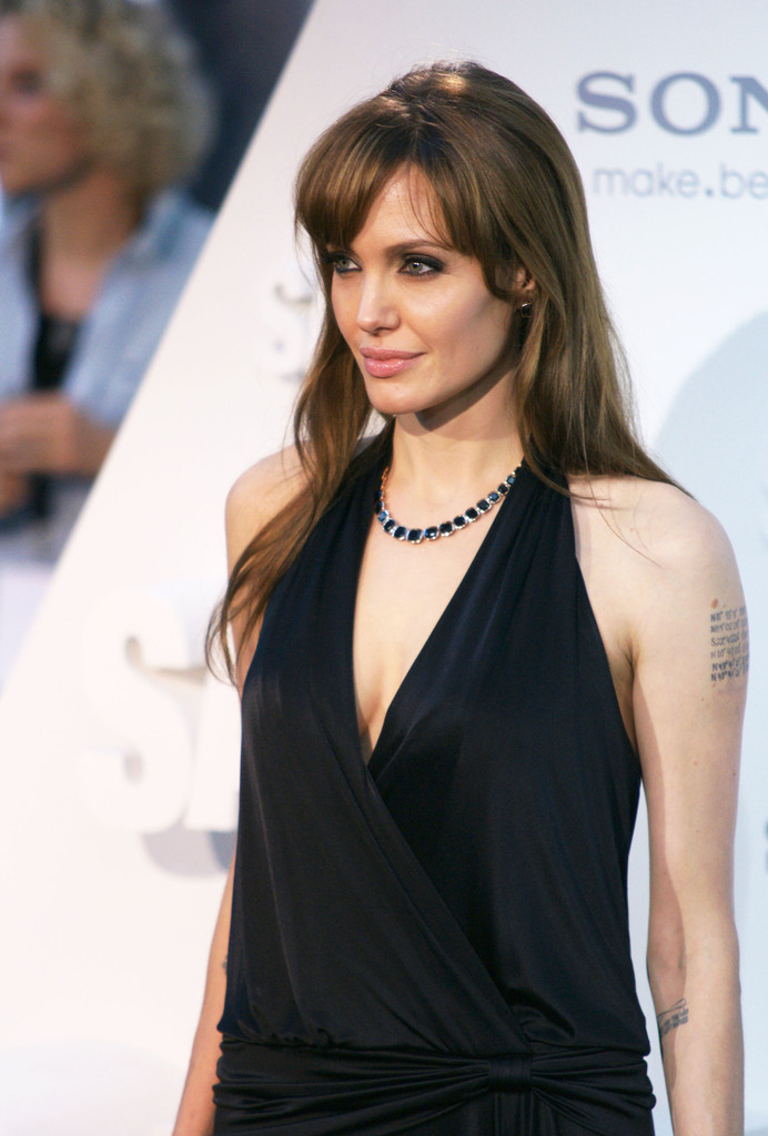 More Straight Guys Here Follow: More Pics Of Angelina Jolie Long Straight Cut With Bangs