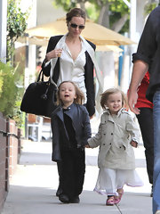 Vivienne Jolie Pitt's trench coat was the perfect city slicker.