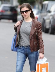 Anna Kendrick kept the sun out with a pair of wayfarers while strolling in West Hollywood.