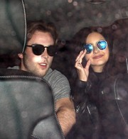 Ariel Winter looked tres cool in mirrored blue shades while leaving the Nice Guy restaurant.