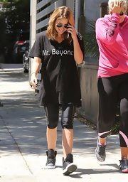 Ashley Benson showed her support of Queen Bey with this 'Mr. Beyonce' tee.
