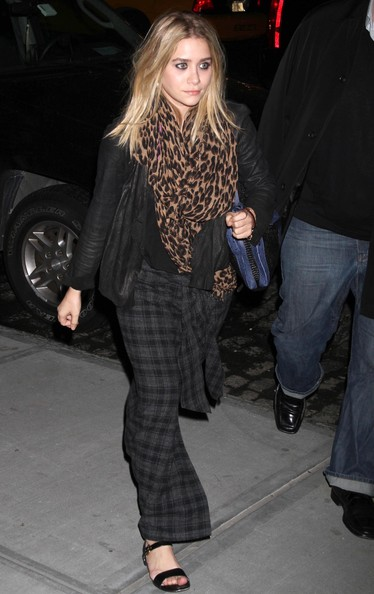 Ashley Olsen Patterned Scarf