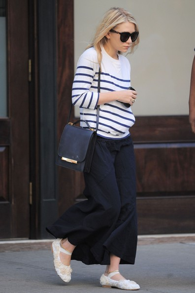 Ashley Olsen Leather Shoulder Bag