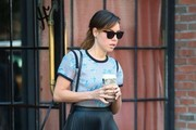 Aubrey Plaza Leather Shoulder Bag