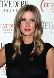 Nicky isn't one for a lot of makeup, but she glamed it up for the Belvedere Red launch party with ravishing red lips.