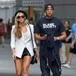 Beyonce's White Blazer and Leather Short-Shorts