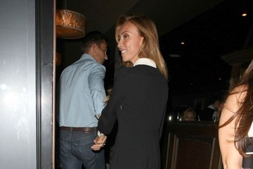 Bill Rancic Giuliana Rancic Celebrities Dine Out at Craig's Restaurant