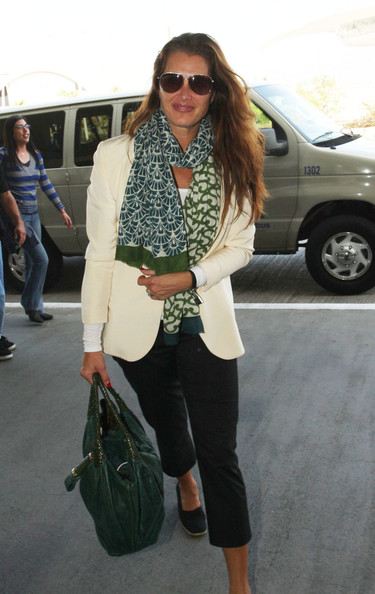 Brooke Shields Patterned Scarf
