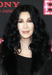 Cher wore her gorgeous curls in a center part at the 'Burlesque' Berlin photocall.
