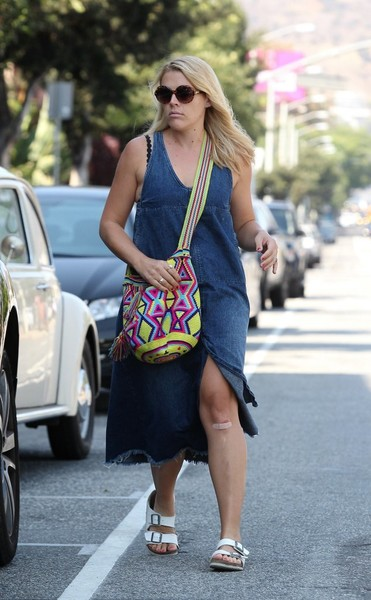 Busy Philipps Denim Dress