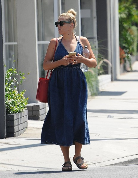 Busy Philipps Slide Sandals