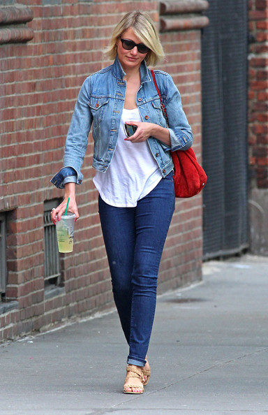 More Pics of Cameron Diaz Denim Jacket (1 of 13) - Cameron Diaz Lookbook - StyleBistro