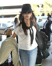 Camilla looked one part Parisian chic, one part hipster cool in this gray fedora.