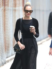 Candice Swanepoel was seen out in New York City carrying a studded Givenchy Pandora bag.