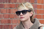 Carey Mulligan Sight Sees in Cute Wool Coat
