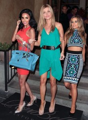 Carmen Electra looked oh-so-slim in her tight pencil skirt.