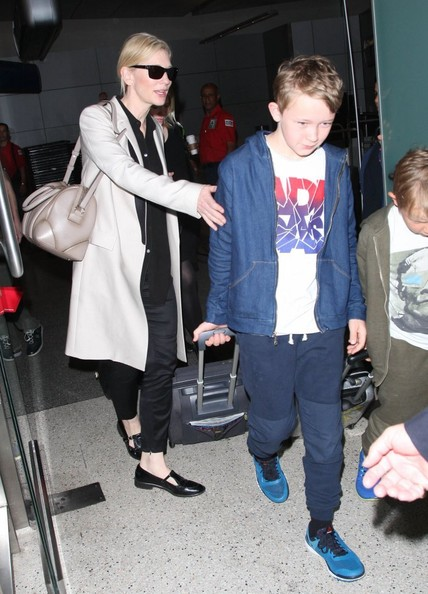 Cate Blanchett Arriving On A Flight At LAX