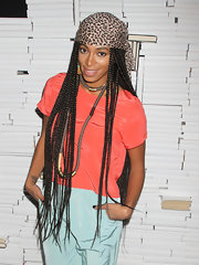 The singer-turned-DJ ditched her natural curls for long braids a la Janet Jackson from 'Poetic Justice.'