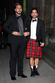 If there's a man who can rock a kilt, it's Marc Jacobs.